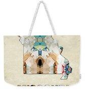 Polygon Mosaic Parchment Map Missouri Weekender Tote Bag