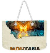 Polygon Mosaic Parchment Map Montana Weekender Tote Bag