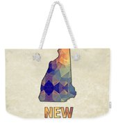 Polygon Mosaic Parchment Map New Hampshire Weekender Tote Bag