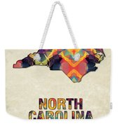 Polygon Mosaic Parchment Map North Carolina Weekender Tote Bag