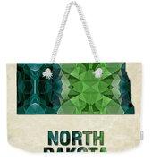 Polygon Mosaic Parchment Map North Dakota Weekender Tote Bag