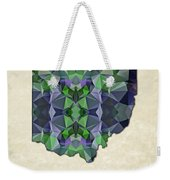 Polygon Mosaic Parchment Map Ohio Weekender Tote Bag