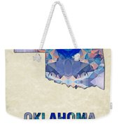 Polygon Mosaic Parchment Map Oklahoma Weekender Tote Bag