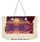 Polygon Mosaic Parchment Map Oregon Weekender Tote Bag
