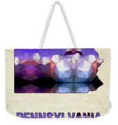 Polygon Mosaic Parchment Map Pennsylvania Weekender Tote Bag