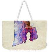 Polygon Mosaic Parchment Map Rhode Island Weekender Tote Bag