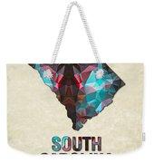 Polygon Mosaic Parchment Map South Carolina Weekender Tote Bag