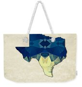 Polygon Mosaic Parchment Map Texas Weekender Tote Bag