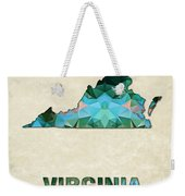 Polygon Mosaic Parchment Map Virginia Weekender Tote Bag