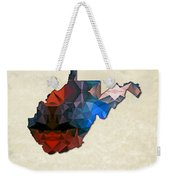 Polygon Mosaic Parchment Map West Virginia Weekender Tote Bag