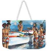 Polynesian Vahines Around Canoe Weekender Tote Bag