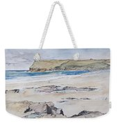 Polzeath And Pentire Head Weekender Tote Bag