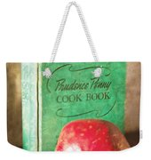 Pomegranate And Vintage Cook Book Still Life Weekender Tote Bag