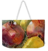 Pomegranates And Pears Weekender Tote Bag by Jen Norton