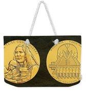 Ponca Tribe Code Talkers Bronze Medal Art Weekender Tote Bag