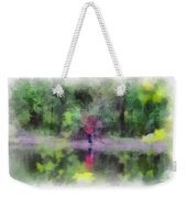 Pond Fishing Photo Art Weekender Tote Bag