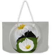 Pond Flower Orb Weekender Tote Bag