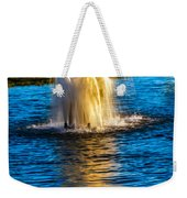 Pond Fountain Weekender Tote Bag