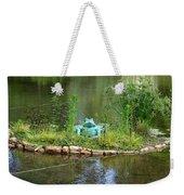 Pond Frog Weekender Tote Bag