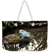 Pond Frog Statuette Weekender Tote Bag
