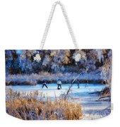 Pond Hockey - Painterly Weekender Tote Bag