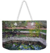 Pond In The English Walled Gardens Weekender Tote Bag