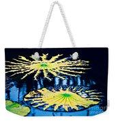 Pond Lily Pad Abstract Weekender Tote Bag