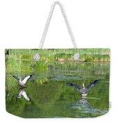 Pond Pairs Dancing Weekender Tote Bag
