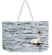 Pond Swan Weekender Tote Bag