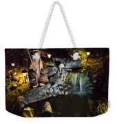Pond Waterfall And Chuck The Bear Weekender Tote Bag