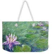 Green Pond With Water Lily Weekender Tote Bag