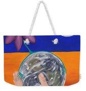 Pondering Creation Hand And Globe Weekender Tote Bag