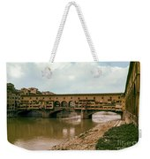 Pont De Vecchio On The Arno Weekender Tote Bag