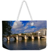 Pont Neuf Over The Seine River Paris Weekender Tote Bag