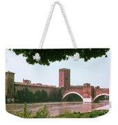 Pont Scaligero On Adige River Weekender Tote Bag