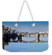 Ponte Santa Trinita Florence Italy Weekender Tote Bag