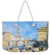 Ponte Santa Trinitia Florence Weekender Tote Bag