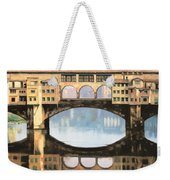Ponte Vecchio A Firenze Weekender Tote Bag by Guido Borelli