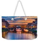Ponte Vecchio At Sunset Weekender Tote Bag