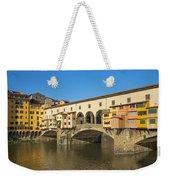 Ponte Vecchio Bridge In Florence Weekender Tote Bag