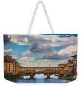 Ponte Vecchio Clouds Weekender Tote Bag by Inge Johnsson
