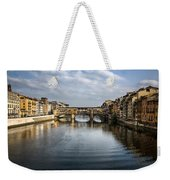 Ponte Vecchio Weekender Tote Bag by Dave Bowman