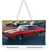 Pontiac Gto - 1964 1965 1966 1967 1968 Weekender Tote Bag