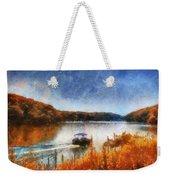 Pontoon Boat Photo Art 02 Weekender Tote Bag