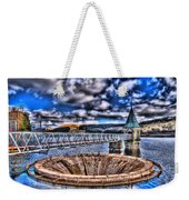 Pontsticill Reservoir Merthyr Tydfil Weekender Tote Bag by Steve Purnell