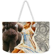 Poodle Art - Una Parisienne Movie Poster Weekender Tote Bag