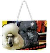 Poodle Standard Art - Love Is My Profession Movie Poster Weekender Tote Bag