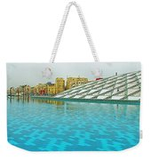 Pool And Roof Of Alexandria Library-egypt  Weekender Tote Bag