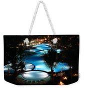 Pool At Night Weekender Tote Bag