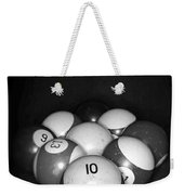 Pool Balls In Black And White Weekender Tote Bag